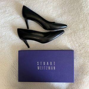 🆕 Stuart Weitzman Pinot Leather Pump Black 6M🖤